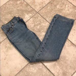 Vintage Calvin Klein light wash mom jean